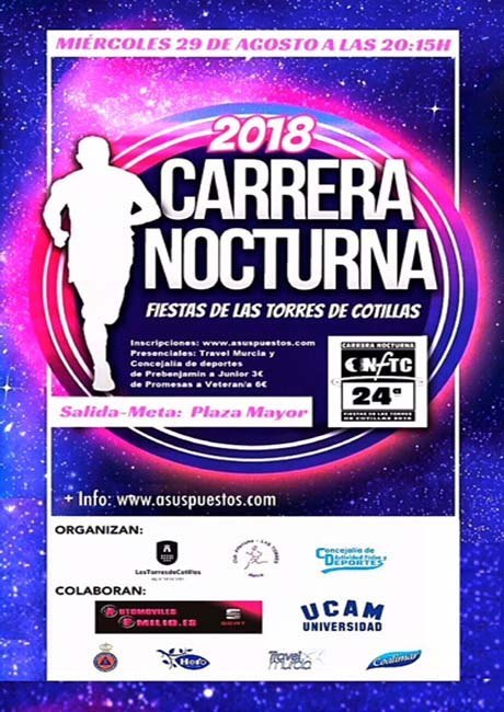 Carrera Nocturna Fiestas de Las Torres 2018