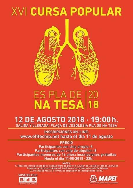 Cursa Popular Es Pla De Na Tesa 2018
