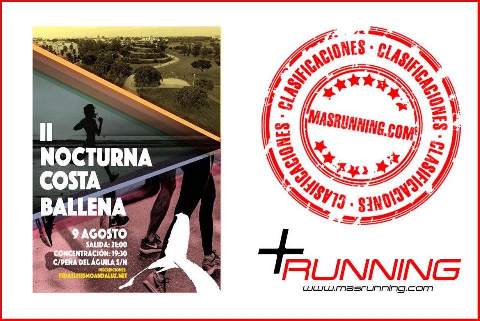Resultados Carrera Nocturna Costa Ballena 2018