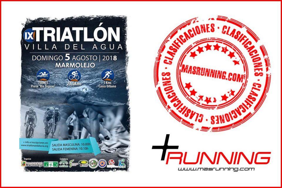 Resultados Triatlón Villa del Agua 2018