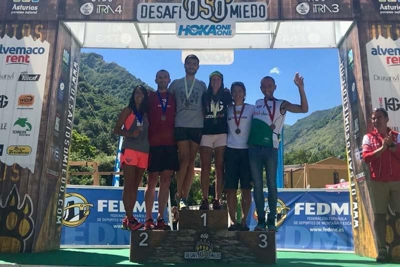 Desafío Somiedo 2018 podio
