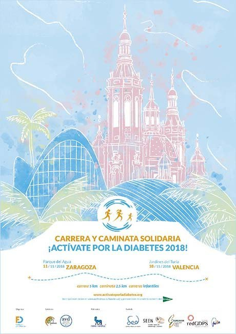 Carrera solidaria Actívate por la Diabetes 2018 Valencia