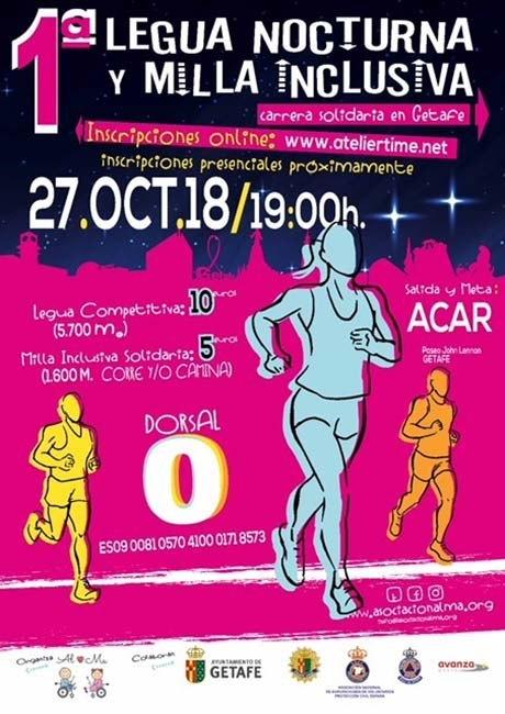 Legua Nocturna y Milla Inclusiva de Getafe 2018