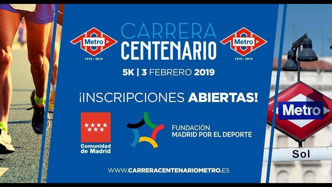 Carrera Centenario Metro de Madrid 2019