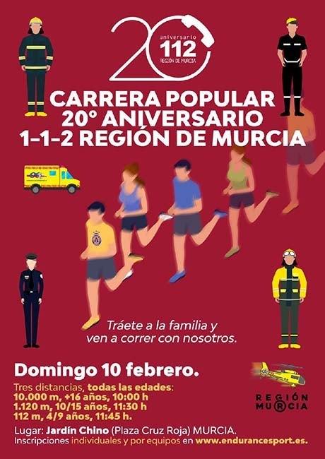 Carrera Popular 20 Aniversario 112 Murcia 2019