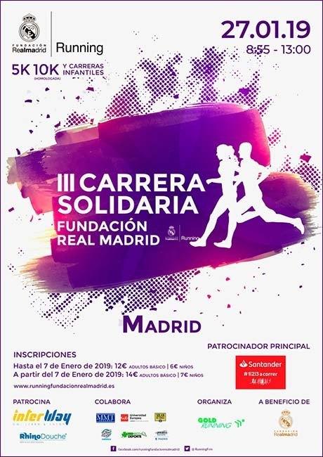 Carrera Solidaria Fundación Real Madrid 2019