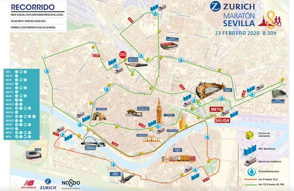 recorrido maraton sevilla 2020
