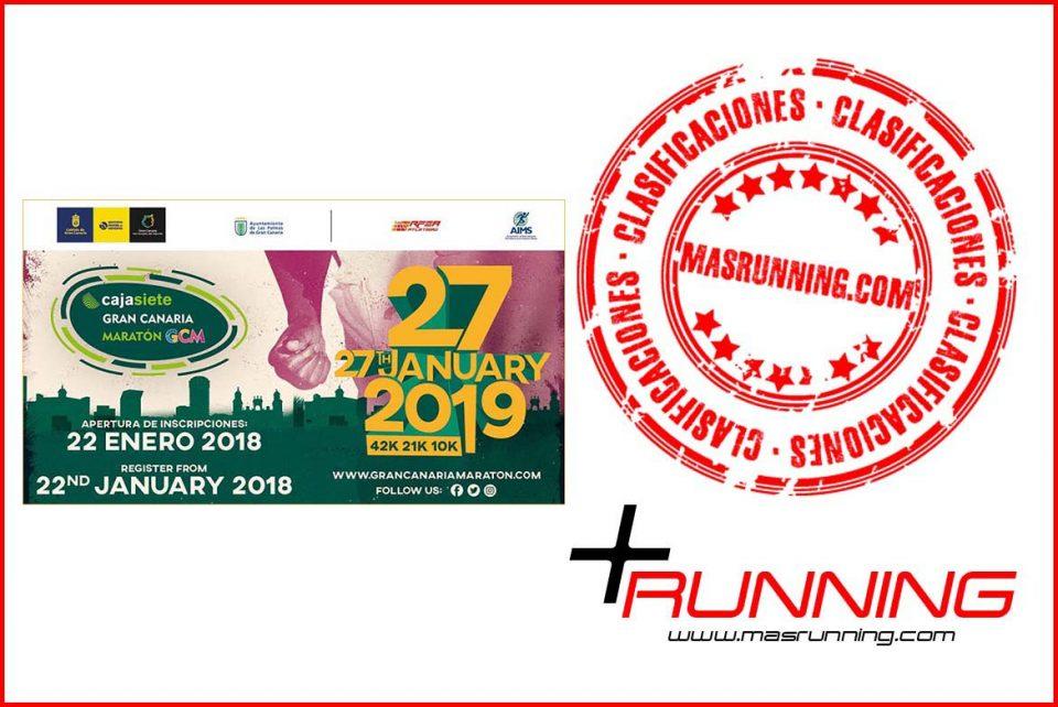 Resultados Cajasiete Gran Canaria Maratón 2019