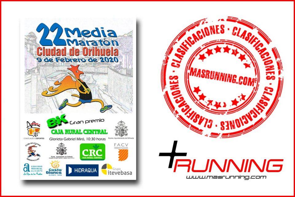 Resultados Media Maratón de Orihuela 2020