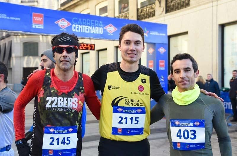 Carrera Centenario Metro Madrid 2019 podio
