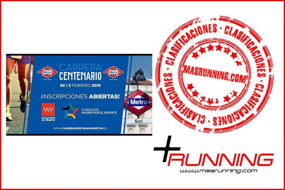 resultados Carrera Centenario Metro de Madrid 2019