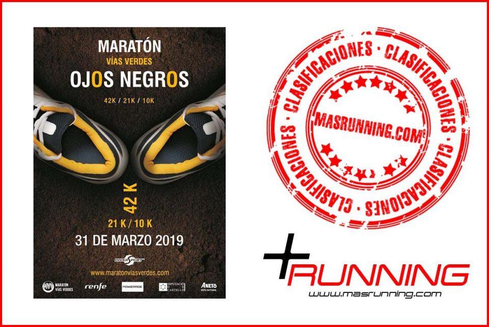 resultados Maratón Vías Verdes Ojos Negros 2019