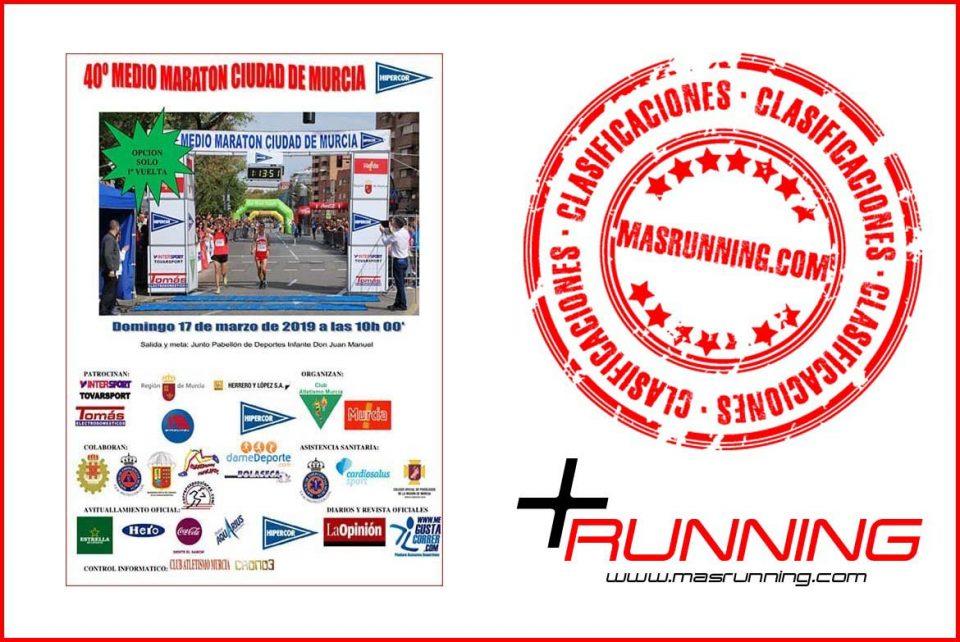resultados Media Maratón Ciudad de Murcia 2019