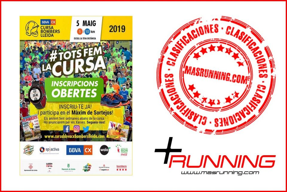resultados Cursa Bombers Lleida 2019