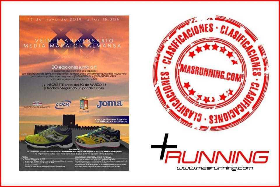 resultados Media Maratón de Almansa clasificaciones