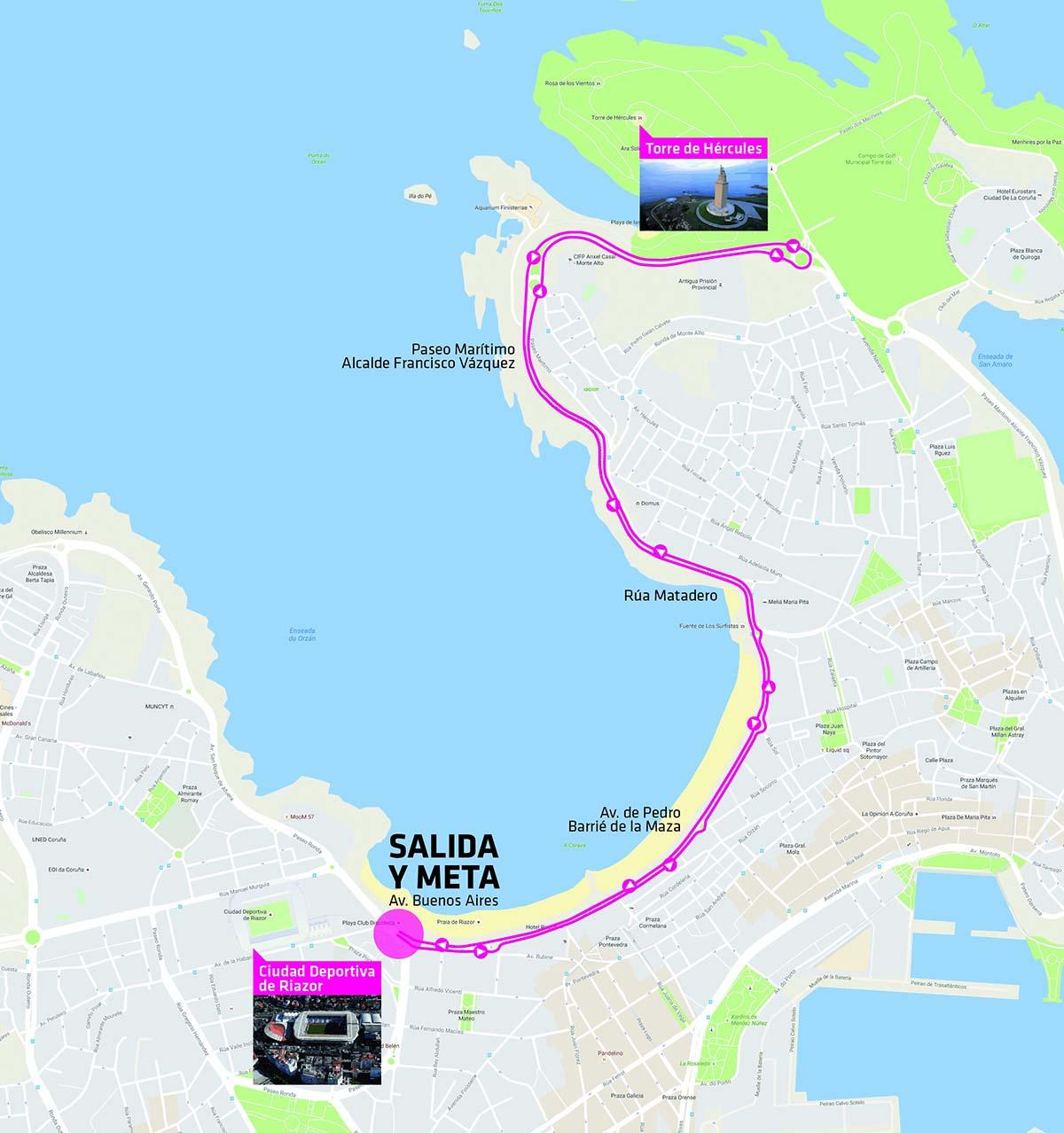 Circuito Carrera de la Mujer A Coruña 2019