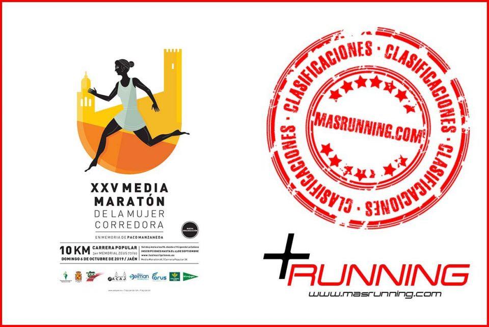 resultados media maraton mujer corredora de jaen 2019