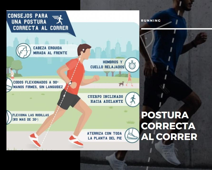 postura correcta running